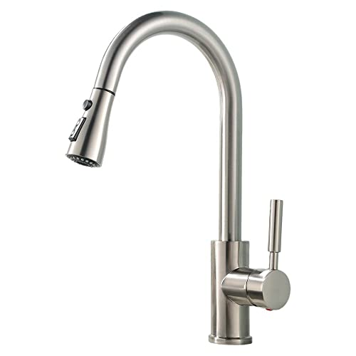 Nickel Pull Out Kitchen Tap Amazoncouk
