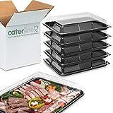5 x mittelgroße Kunststoff-Boxen mit Deckel für Catiering