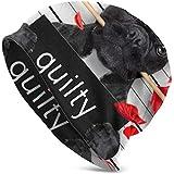 TABUE Bulldog de la Saint-Valentin Chien Rose Bouche Mugshot Bonnet tricoté Bonnets tricotés Bonnets tête de Mort Bonnet