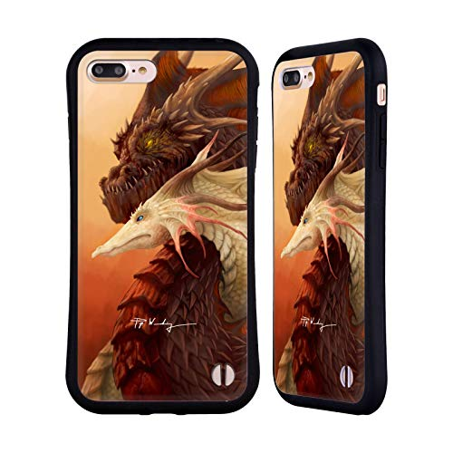 Head Case Designs Ufficiale Piya Wannachaiwong Legame dei Draghi Draghi Colorati Cover Ibrida Compatibile con Apple iPhone 7 Plus/iPhone 8 Plus