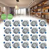 Froadp 20x3W LED Einbauleuchten Schwenkbar Deckenspots Haushalt Unter-Einbauleuchten Elektroinstallation Einbaustrahler