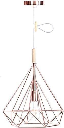 Iron Rose or Chandelier Country américain Simple éclairage décoratif Chambre Salon Allée Unique Cristal Bois Lustre (Taille   S)