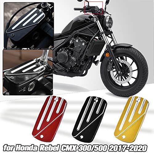 AHOLAA Frente de la Motocicleta Cilindro Maestro de Frenos del depósito Tapa para Honda Rebel CMX 500 CMX 300 2017 2018 2019 2020,Accesorios Motocicleta CMX500 CMX300 (negro)