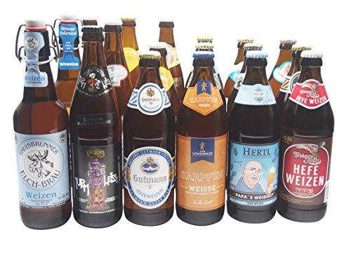 Bierwohl I Geschenkidee I Das Weisse I Bierset mit diversen Weissbieren/Weizenbieren aus Franken und Umgebung I 18x 0,5l