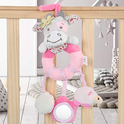 Wosune Juguete Educativo, Juguete Colgante para Cama de bebé único para bebés para bebés para desarrollar la visión del bebé para el Sentido(Pink Cow)