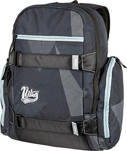 """Local Daypack Multifunktionsrucksack mit Board Tragesystem, Rucksack mit 15"""" Laptopfach, einfacher Schulrucksack, Basic Schoolbag, 27 L, 1151-878040_FRAGMENTS BLACK, 640 g"""