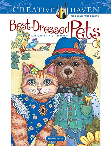 Creative Haven Best-Dressed Pets Coloring Book