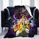 Autumn Winter Home Fleece Throw Blanket,Anime Fairy Tail Natsu Dragneel Dragon Vs Villain Coral Plush Travel Blankets Carpet Bedspreads Sofa Cover Bedroom Decor for Couch Dorm Room 60