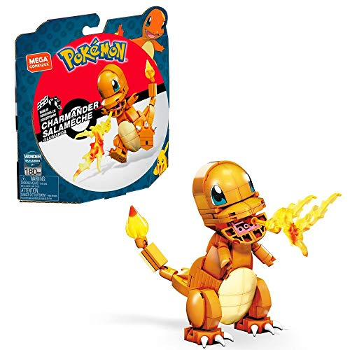 Mega Construx GKY96 - Pokémon Medium Pokémon Glumanda mit 180 Bausteinen, Spielzeug ab 7 Jahren