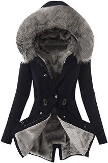 SANFASHION Bekleidung Cappotto Invernale da Donna, Taglia Grande, con Cappuccio, Slim Fit, Maniche Lunghe, alla Moda, con ...