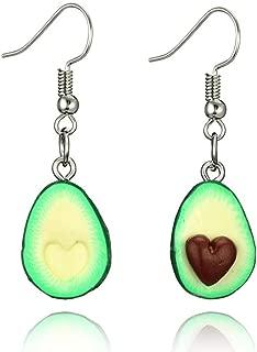 Hatoys Miniature Food Green Avocado Friendship Jewelry Earrings