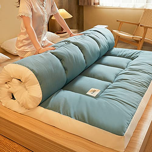GHJGDAOM Colchón plegable japonés futón para piso Tatami, colchoneta enrollable, doble de terciopelo, colchoneta para dormir para el hogar, colchoneta de esponja portátil, 004, 120 x 200 cm