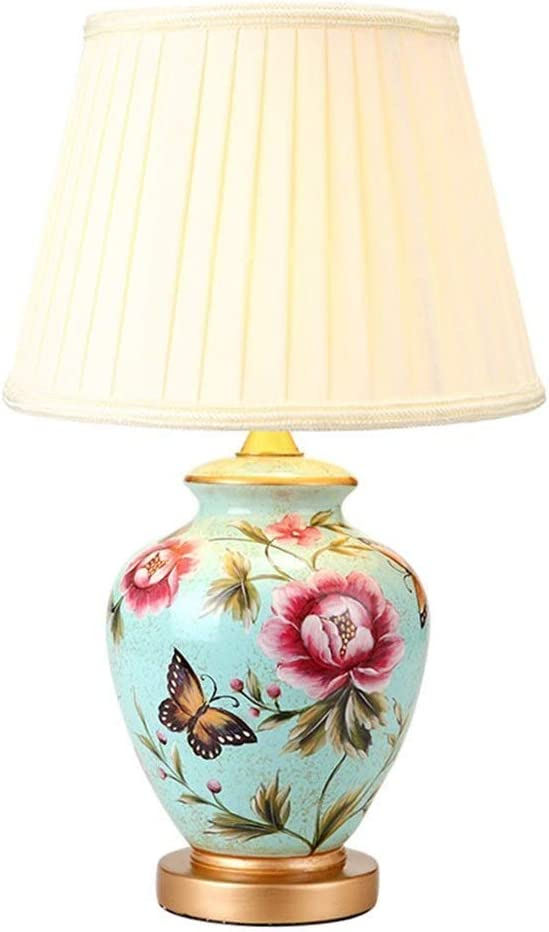 ZXY-NAN Table Lamp Ceramic online shopping Latest item Pleated Paint Lampshade