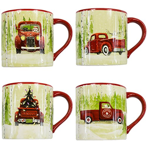 Park Designs Christmas Vacation Mugs (Set of 4), Multicolor