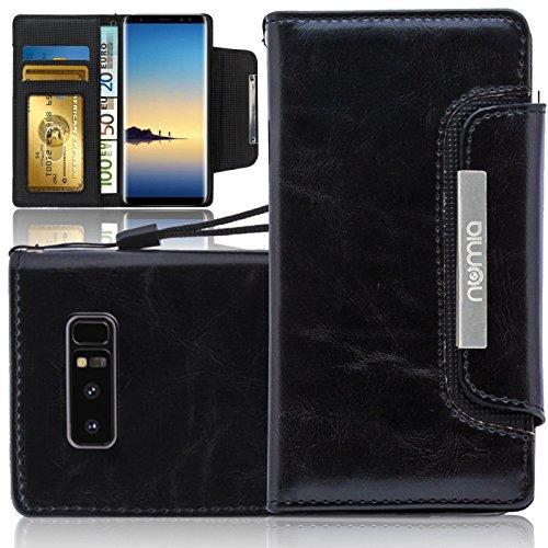 numia kompatibel mit Samsung Galaxy S10 Plus Hülle PU Leder Tasche für Galaxy S10+ Handytasche Schwarz