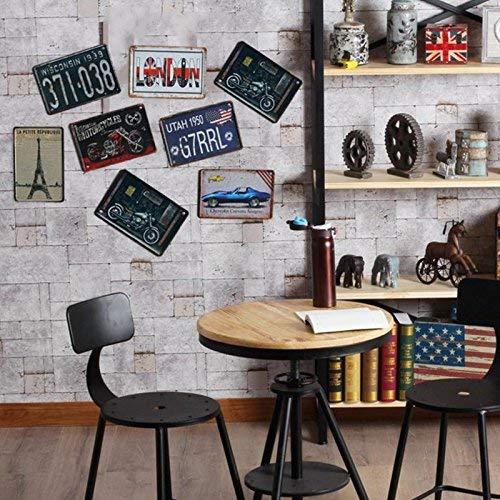 Kentop - Cartel de chapa retro con mensaje 'Welcome', para bar, café, hogar,...