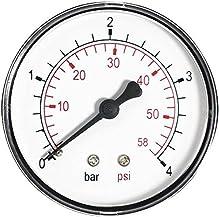 """Manómetro de entrada trasero de 1/4""""bspt"""