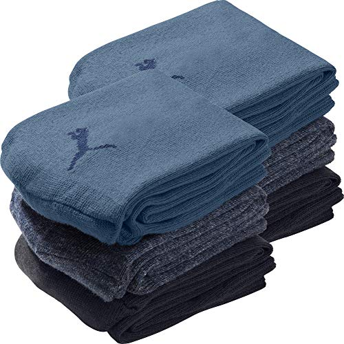 PUMA Socks Unisex-Sneaker-Socken 6er-Pack marine, blau, jeans Größe 39-42