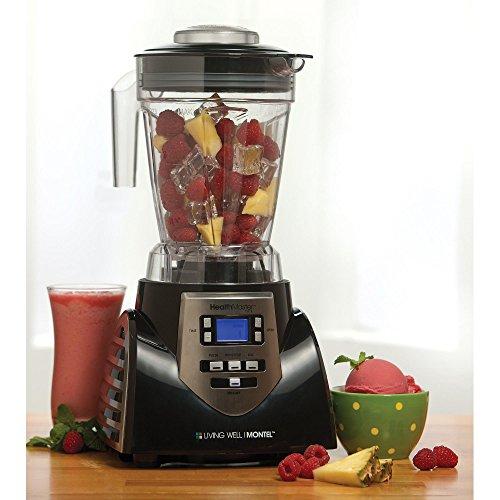 HealthMaster Elite Food Emulsifier, Fruit and Vegetable Blender by Montel Williams-Black & Stainless Steel