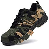 JACKSHIBO Steel Toe Work Shoes for Men Women Safety Shoes Breathable Industrial Construction Shoes...