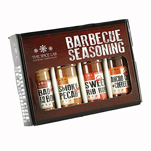 The Spice Lab BBQ Barbecue Spices and Seasonings Set - Ultimate Grilling Accessories Set - Perfect Gift Kit for Barbecues, Grilling, and Smoking - Great Gift for Men or Gift for Dad – Made in the USA