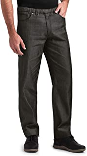 Men's Chambray Slim Fit Chef Pant (XS-3X, Black)