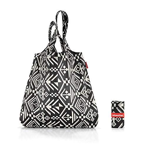 Reisenthel Mini Maxi Shopper 15 Liter Einkaufsbeutel Faltbeutel, Plastik, Hopi Black, 43 x 7 cm