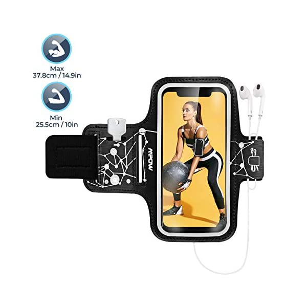 "Mpow Phone Armband for Running, Phone Armband for iPhone 11 Pro 11 XR XS X 8 7 6 6S, Samsung Galaxy S9 S8 S7[Up to 6.1""], with Headphone Slot Key Slot for Running Exercise, Starry Sky Pattern"
