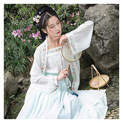 Trajes chinos tradicionales de danza de Hanfu Canción Dinastía Femenina Elegante Ropa Oriental Clásica Escenario (Color, Tamaño: M)