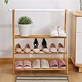 Organizador de almacenamiento de zapatero Zapato Rack Natural Bambú Zapato Estante de zapatos Multi-capa Organizador de la sala de estar Dormitorio Dormitorio Pasaje de zapatos 62 × 24 × 73cm Zapatero
