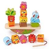 Giocattolo Montessori da 1 2 3 anni Bambine, Giocattoli in Legno Regalo per 1-4 anni Ragazze Bambini Giocattoli Educativi Giocattolo da 1 2 3 4 anni Ragazzi Bambino Giocattolo Regali di Compleanno