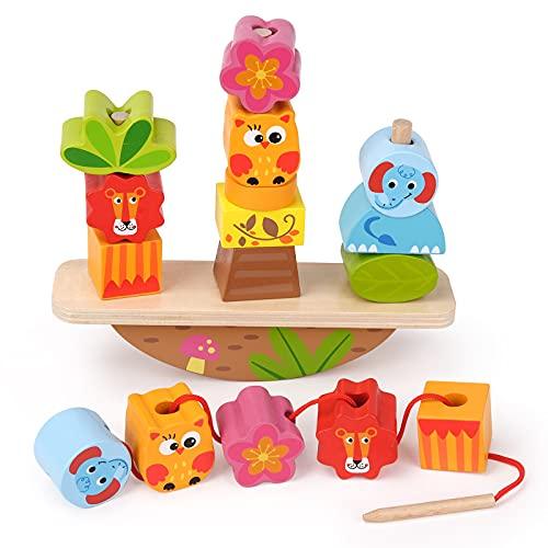 Montessori Spielzeug ab 1 2 3 Jahr Baby Mädchen Jungen, Holzspielzeug für 1-4 Jährige Mädchen Junge Kinder Spielzeug Geschenk Lernspielzeug ab 1 2 3 4 Jahren Jungen Kleinkinder Geburtstagsgeschenk