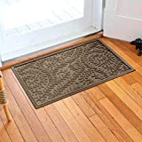 Bungalow Flooring Waterhog Door Mat, 2' x 3' Made in USA, Durable and Decorative Floor Covering, Skid Resistant, Indoor/Outdoor, Water-Trapping, Boxwood Collection, Khaki/Camel