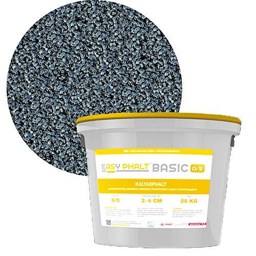 Kaltasphalt EASYPHALT BASIC, Körnung 0-5 mm, 25 kg im wiederverschließbaren Eimer, Reparaturasphalt von Schicker Mineral