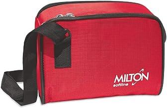 Milton Prime Trendy Plastic Tiffin Box Set, mm, 5-Pieces, Red