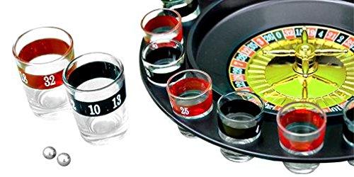 SHINE Ruleta Juego de Beber con 16Shot Glasses- Fiesta Ciervo Gallina Centrifugado
