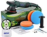 HONE Car Polisher Buffer, 6'/5'/850W Dual Action Buffer with Variable Speed, 15mm Long-Throw Ramdom Orbital Polisher, 4 Professional Pads with Car Polishing Kit.