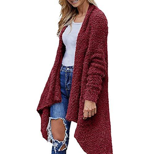 Long Cardigans for Women with Pockets Women Sweater Stripes Poncho Fall Tassels Slash Gradient Shawl Hem Fringe Loose Tops Wine