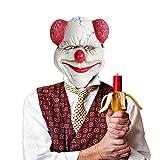 NCAI Semi-Manual and semi-Mechanical Craftsmanship 3D Dimensional PU Funny Horror Smile Clown mask Halloween Carnival Ball Show Props
