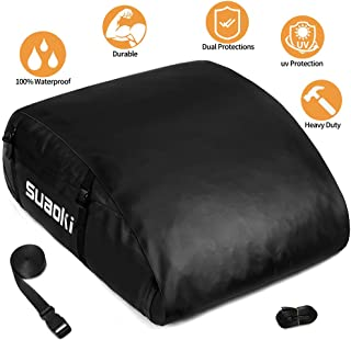 MIDABAO Car Roof Bag Top Carrier Cargo Storage Rooftop Luggage Waterproof PVC Soft Box Luggage Outdoor Water Resistant for...