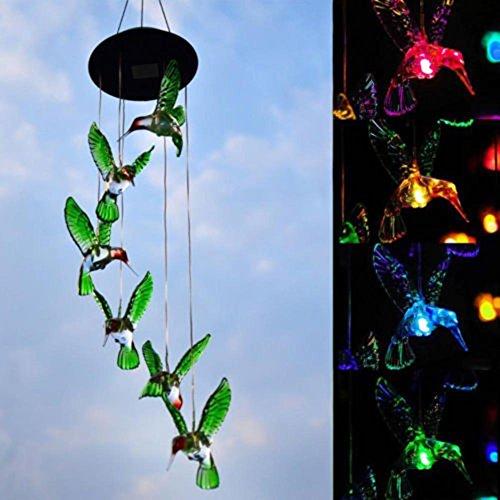 LED Solaire Carillons Éoliens Lumière, Oshide Changement De Couleur Lampe Automatique Capteur Jardin Spinner Lumières Extérieures Pour Pelouse Accueil Décorations De Fête