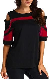 Xinantime Womens Elegant Cold Shoulder Long Sleeve and Short Sleeve Sweatshirt Pullover Tops Blouse Shirt