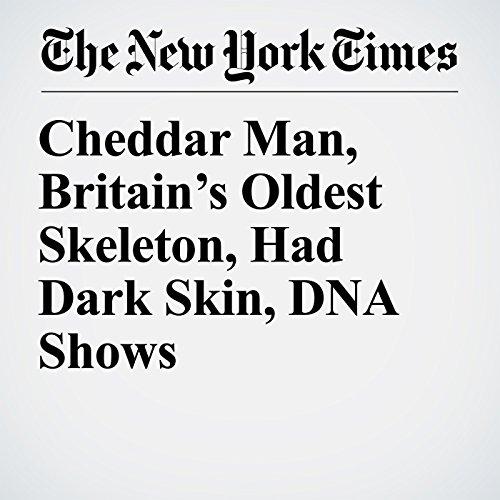 Cheddar Man, Britain's Oldest Skeleton, Had Dark Skin, DNA Shows copertina