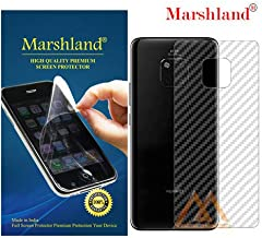 MARSHLAND 3D Carbon Fiber Flexible Back Screen Protector Anti Scratch Bubble Free Back Screen Guard Compatible for Huawei Mate 20 Pro