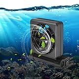 Enfriador de acuario, mini ventilador de enfriamiento de acuario ajustable de una sola cabeza de 100 grados, colgar en suministros de tanque de peces enfriador, ultra silencioso(Enchufe de la UE)