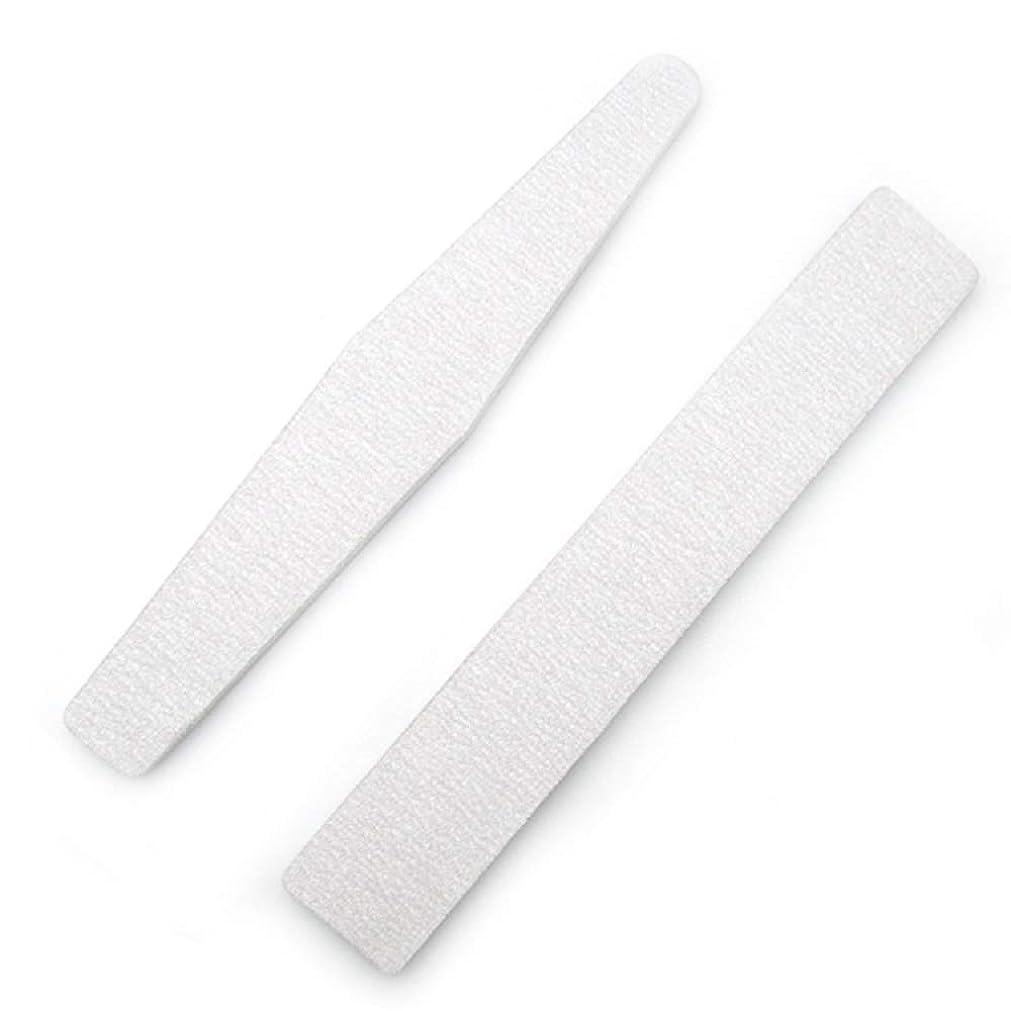 ギャップ削除する広まったジェルネイルファイル 爪磨き 爪やすり ネイルポリッシュファイル 高品質ネイルやすり スポンジファイル ネイルをつやつやに シンプルで使いやすい 男女兼用 新年の贈り物 両面使える ネイルポリッシュファイル(2枚セット) (1set)