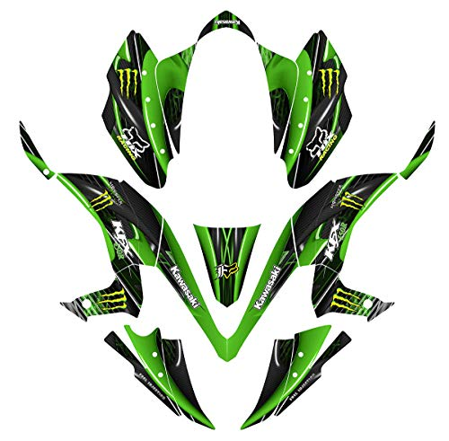 Kawasaki KFX 450 KFX450R graphics decal kit design #3333 (green)