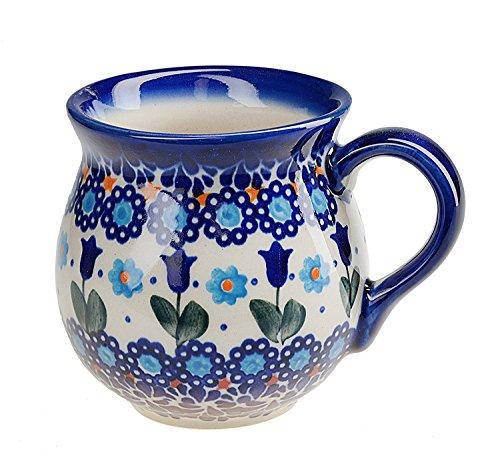 BCV Boleslawiec Pottery – Tazza in Ceramica, Dipinta a Mano, 250 ml, 523-U-006
