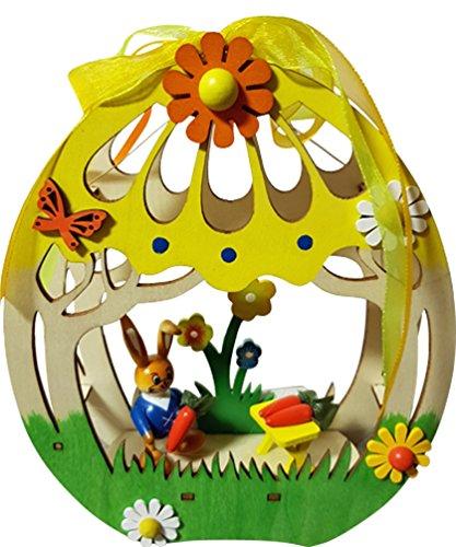 Pasqua LED decorazione della stanza decorazione per finestra Easter Bunny in legno illuminato CA. 15x 4,5x 18,5cm Primavera Decorazione Statuetta (75732b)