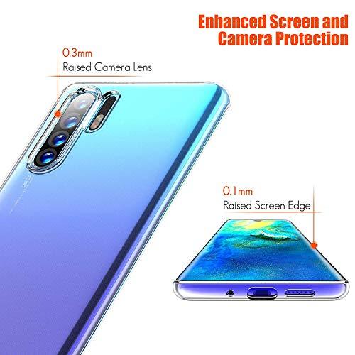 Seomusen Handyhülle Kompatibel mit Huawei P30 Pro Durchsichtige,TPU Transparent Huawei P30 Pro Hülle,Neueste Staubdichtes Design Crystal Klar TPU Case Backcover Schutzhülle für Huawei P30 Pro - 3